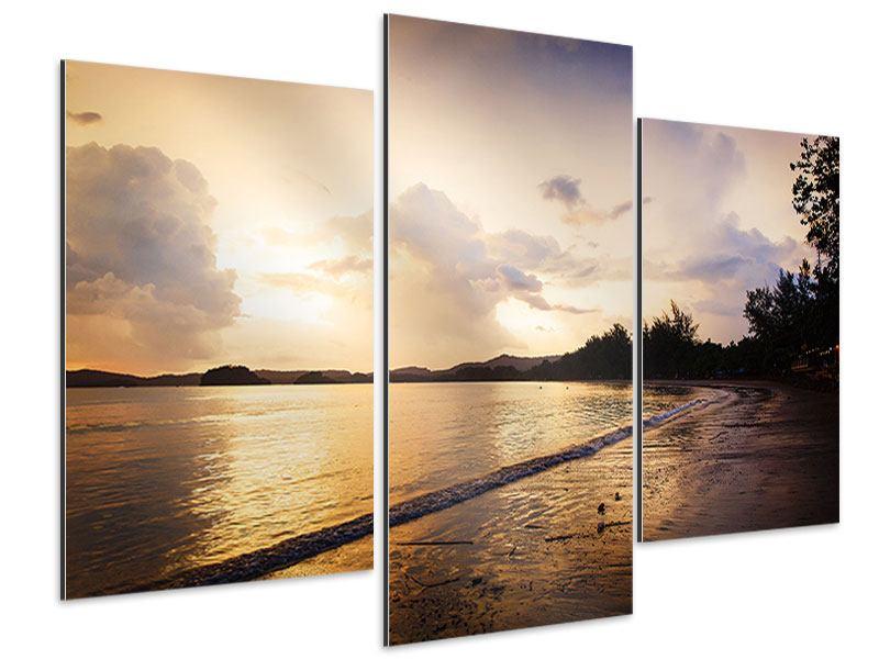 Aluminiumbild 3-teilig modern Das Ufer