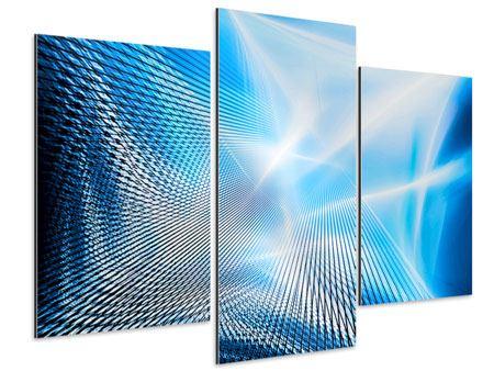 Aluminiumbild 3-teilig modern Laser