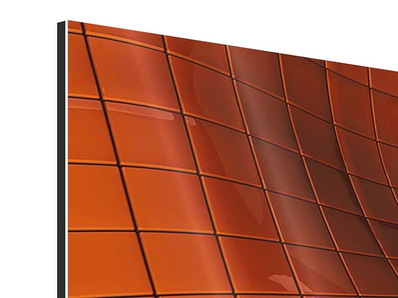 Aluminiumbild 3-teilig modern 3D-Kacheln