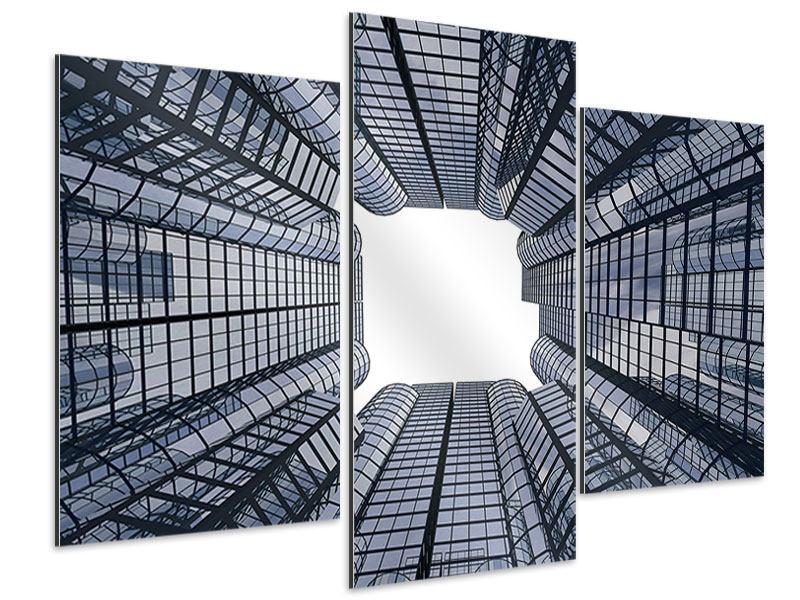 Aluminiumbild 3-teilig modern Besondere Perspektive
