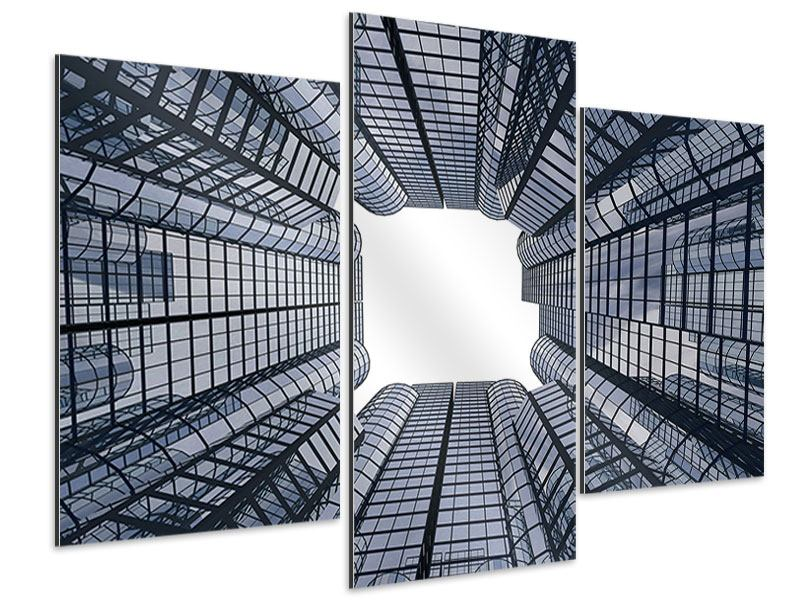 Modern 3 Piece Aluminium Print Special Perspective