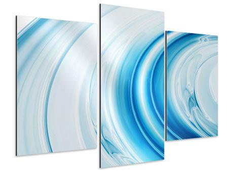 Aluminiumbild 3-teilig modern Abstraktes Glas