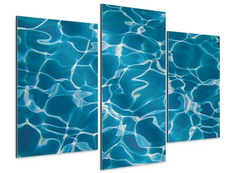 Aluminiumbild 3-teilig modern Pool