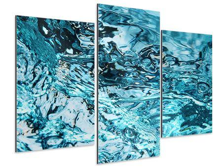 Aluminiumbild 3-teilig modern Schönheit Wasser