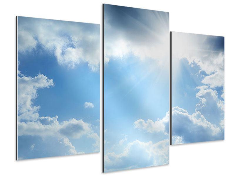 Aluminiumbild 3-teilig modern Himmelshoffnung