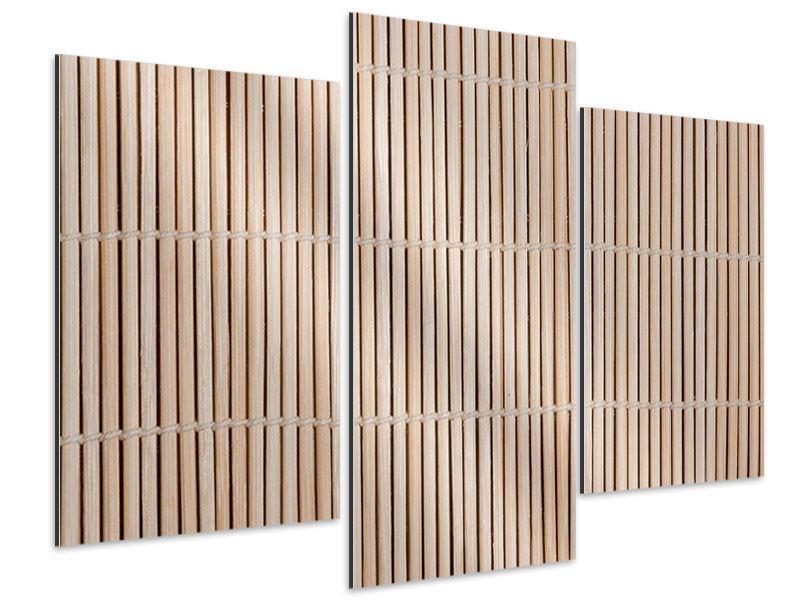 Aluminiumbild 3-teilig modern Lucky Bamboo
