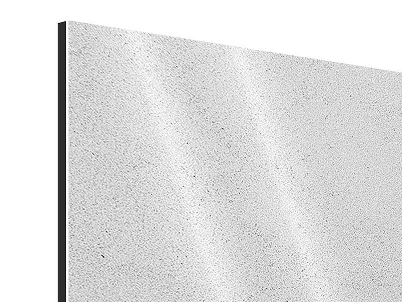 Aluminiumbild 3-teilig modern Beton in Hellgrau
