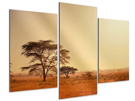 Aluminiumbild 3-teilig modern Weideland in Kenia