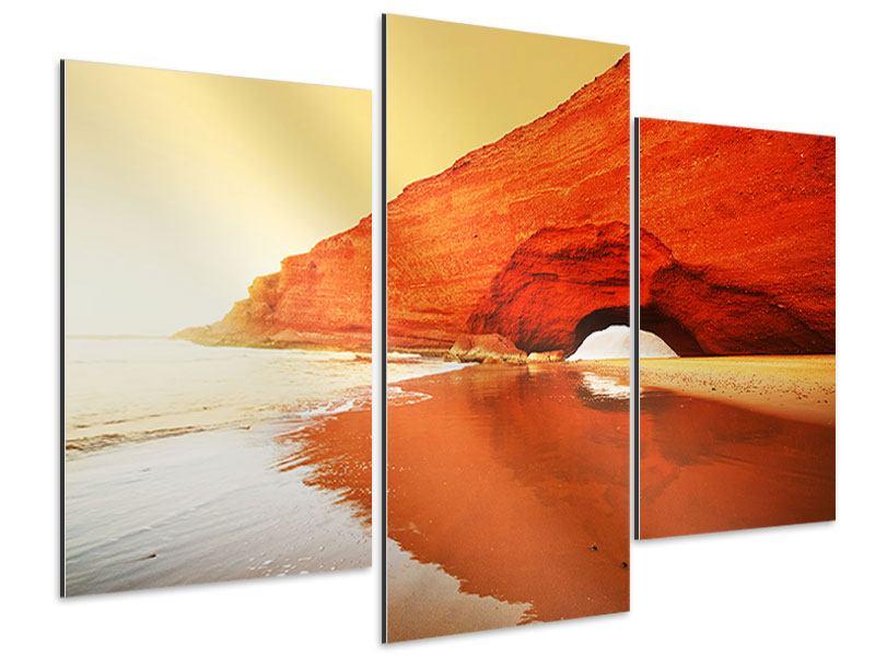 Aluminiumbild 3-teilig modern Wasserspiegelung