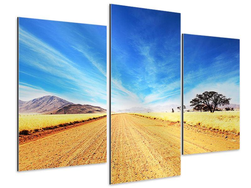 Aluminiumbild 3-teilig modern Eine Landschaft in Afrika