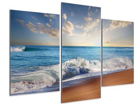 Aluminiumbild 3-teilig modern Die Wellen des Meeres