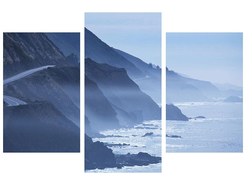 Aluminiumbild 3-teilig modern Bewegung im Wasser