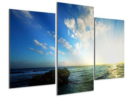 Aluminiumbild 3-teilig modern Die See