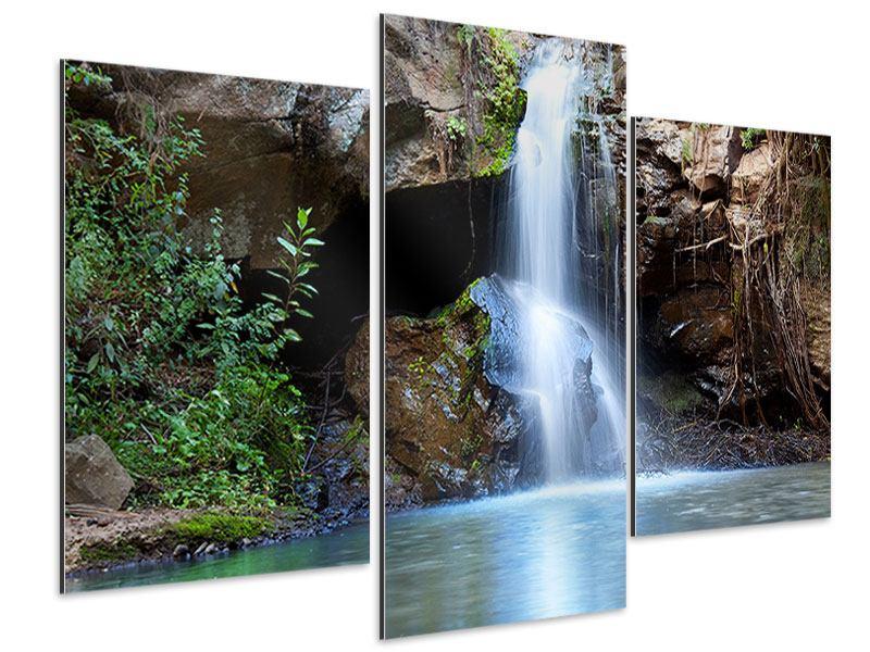 Aluminiumbild 3-teilig modern Die blaue Lagune