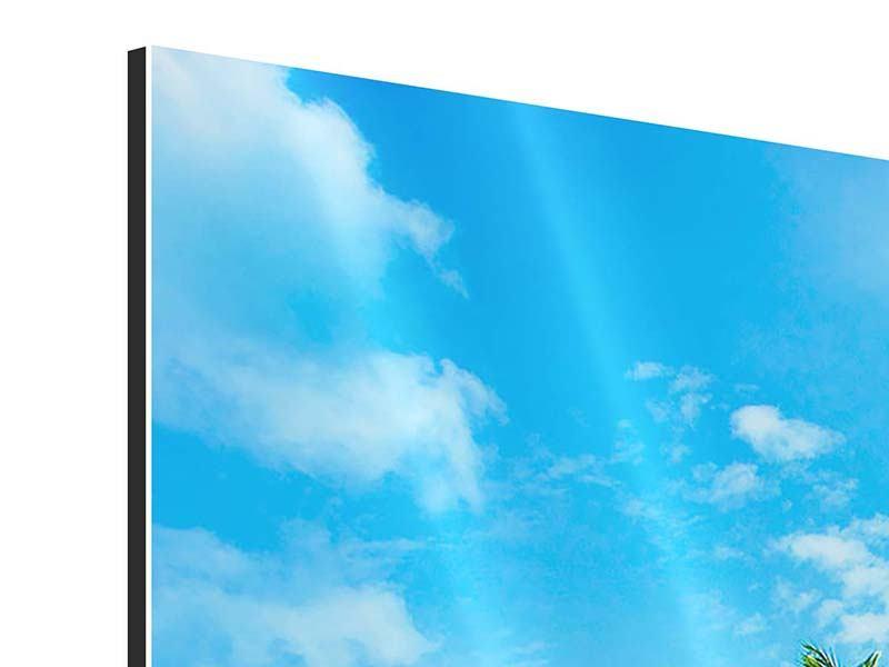 Aluminiumbild 3-teilig modern Reif für die Ferieninsel