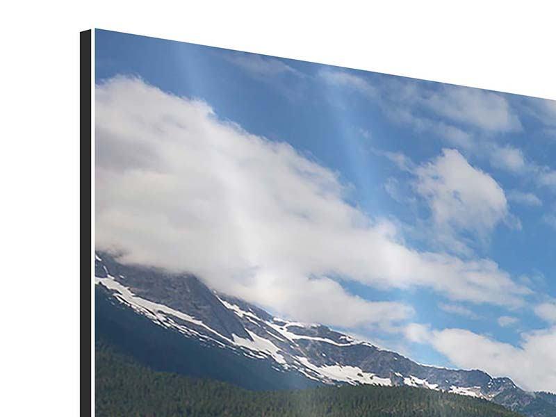 Aluminiumbild 3-teilig modern Diablo Bergsee