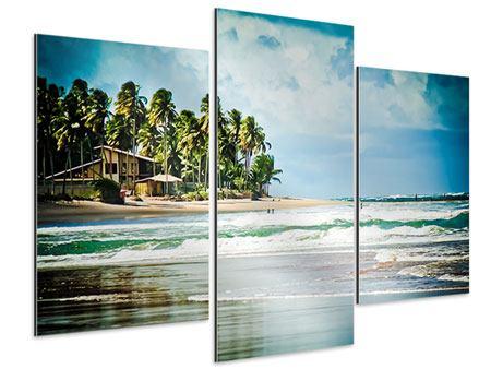 Aluminiumbild 3-teilig modern The Beach