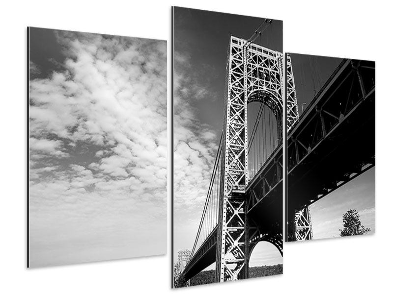 Aluminiumbild 3-teilig modern Georg-Washington-Bridge