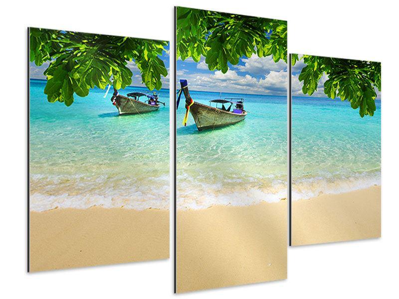 Aluminiumbild 3-teilig modern Ein Blick auf das Meer