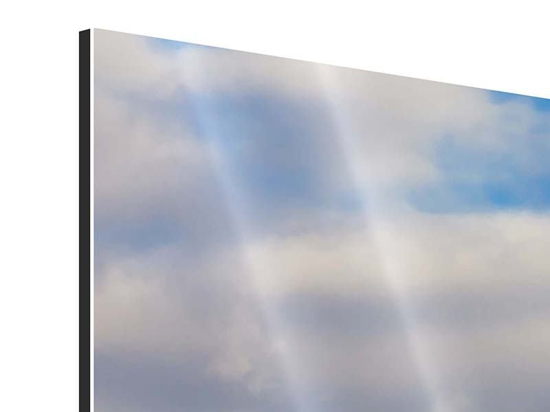 Aluminiumbild 3-teilig modern Pont de Normandie
