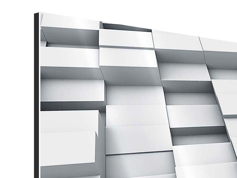 Aluminiumbild 3-teilig modern 3D-Kubus