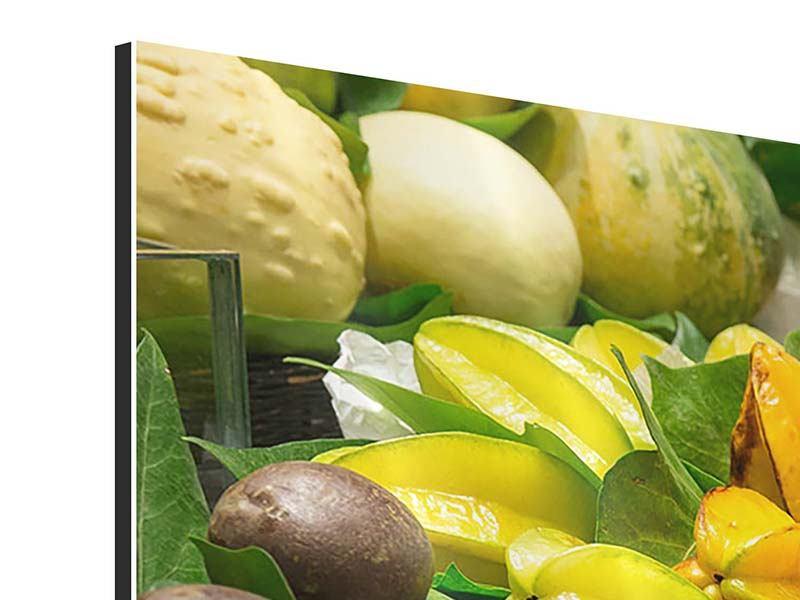 Aluminiumbild 3-teilig modern Früchte