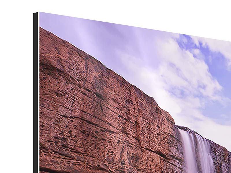 Aluminiumbild 3-teilig modern Himmlischer Wasserfall