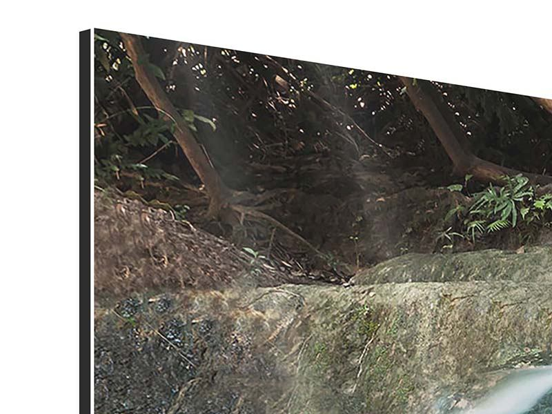 Aluminiumbild 3-teilig modern Am Fluss des Lebens