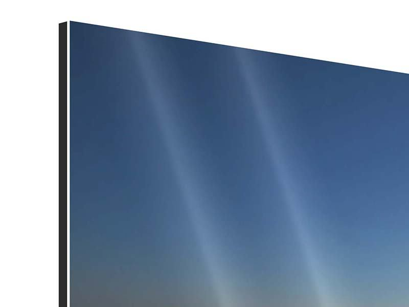 Aluminiumbild 3-teilig modern Privatstrand