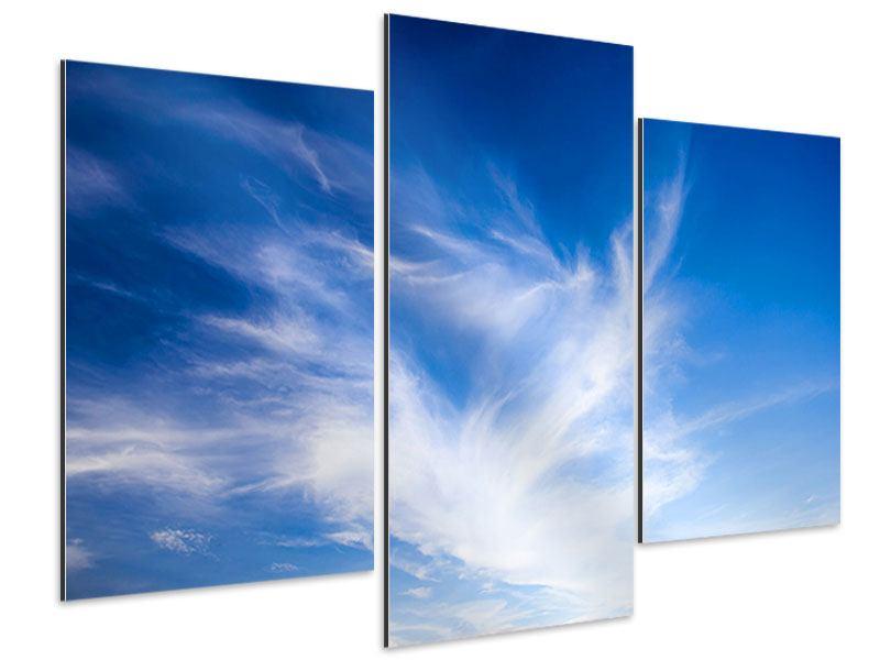 Aluminiumbild 3-teilig modern Schleierwolken