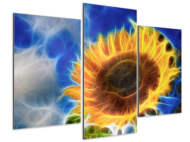 Aluminiumbild 3-teilig modern Der Sonne entgegen