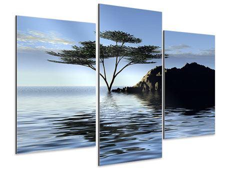 Aluminiumbild 3-teilig modern Naturfaszination