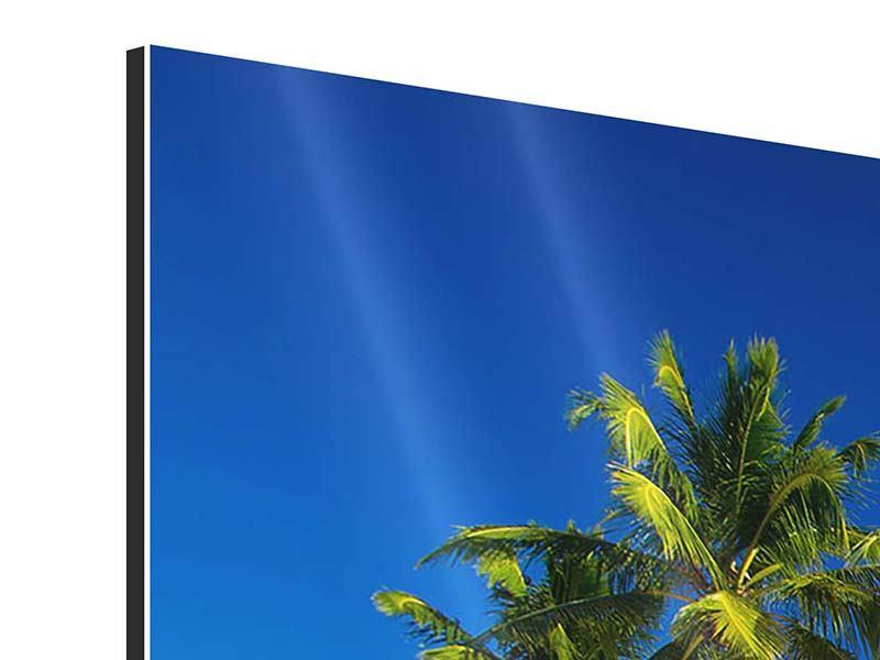 Aluminiumbild 3-teilig modern Aloha