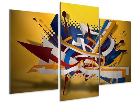 Aluminiumbild 3-teilig modern Graffiti Art