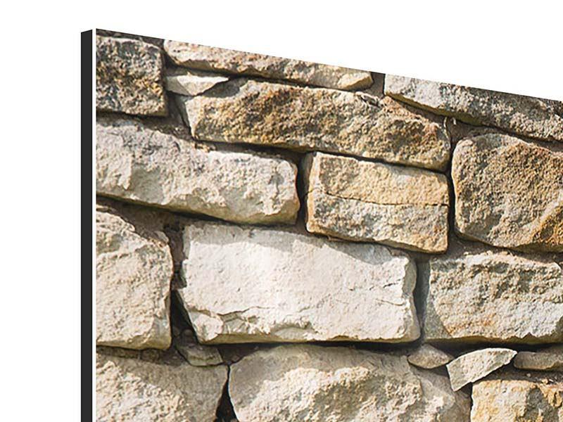 Aluminiumbild 3-teilig modern Natursteine