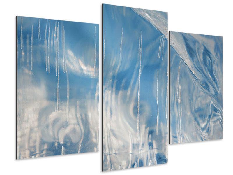 Aluminiumbild 3-teilig modern Das Eis des Baikalsees