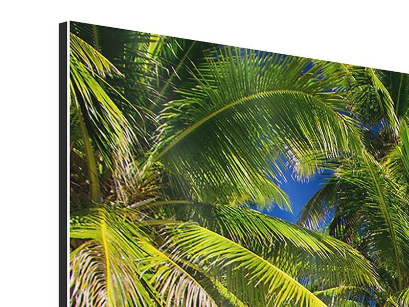 Aluminiumbild 3-teilig modern Die einsame Insel