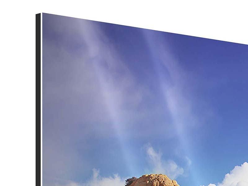 Aluminiumbild 3-teilig modern Strandgedanken