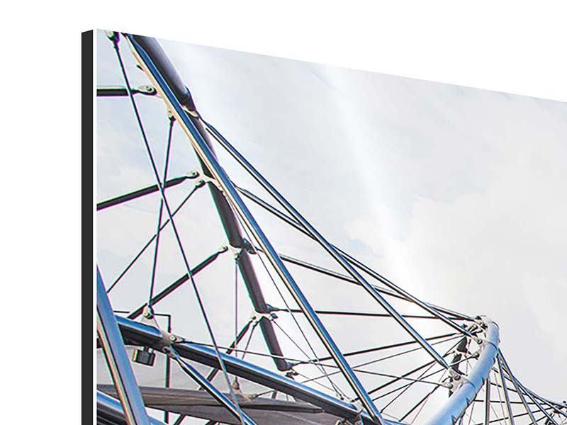 Aluminiumbild 3-teilig modern Singapur