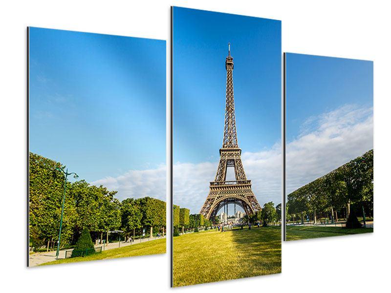 Aluminiumbild 3-teilig modern Der Eiffelturm in Paris