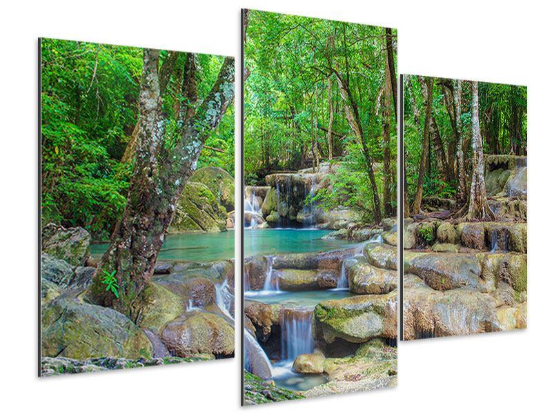 Aluminiumbild 3-teilig modern Wasserspektakel