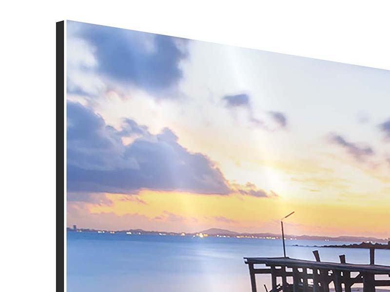 Aluminiumbild 3-teilig modern Inseltraum