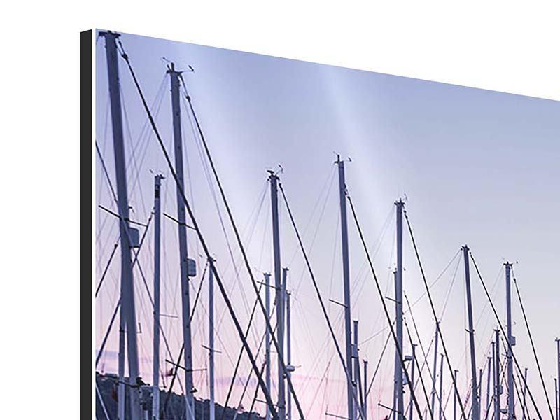 Aluminiumbild 3-teilig modern Yachthafen