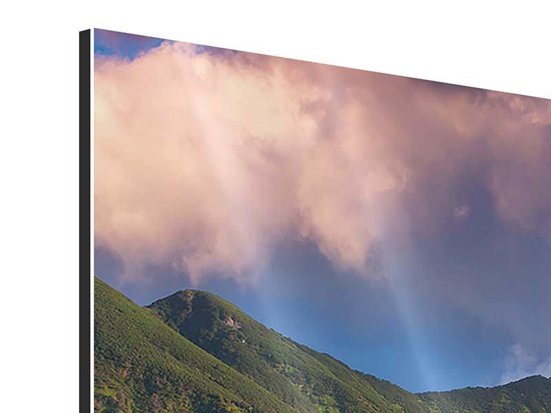Aluminiumbild 3-teilig modern Herbstanfang