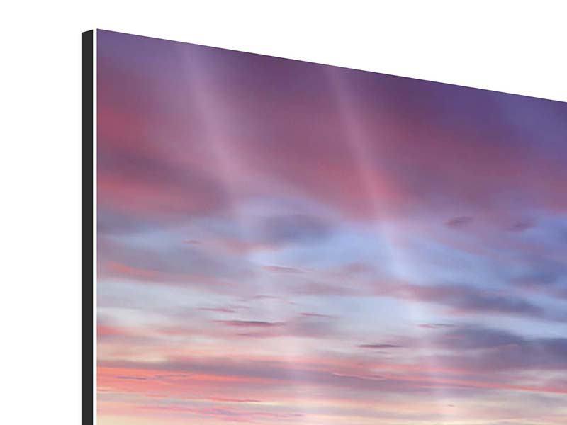 Aluminiumbild 3-teilig modern Ano Manao Bucht