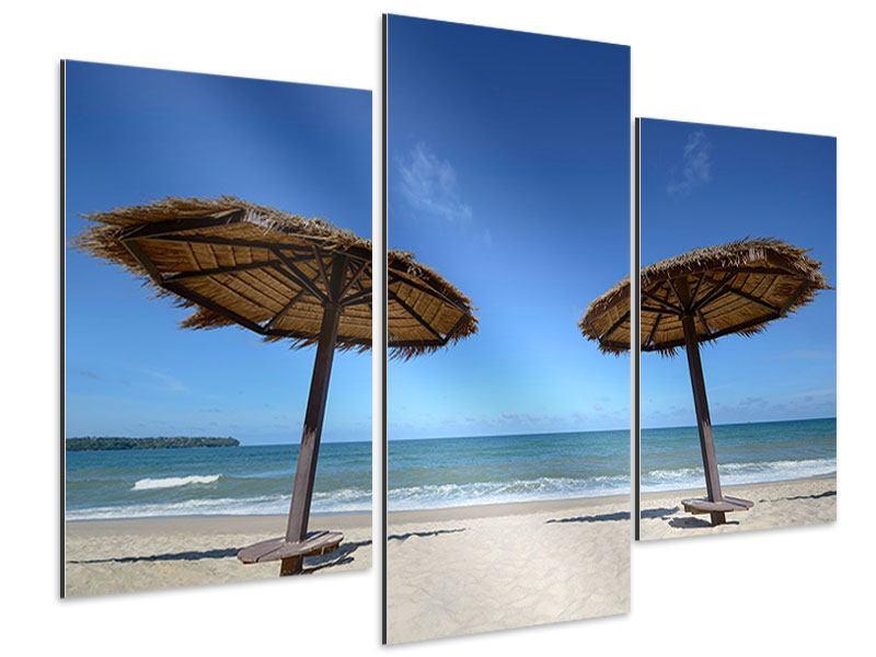 Aluminiumbild 3-teilig modern Umbrellas