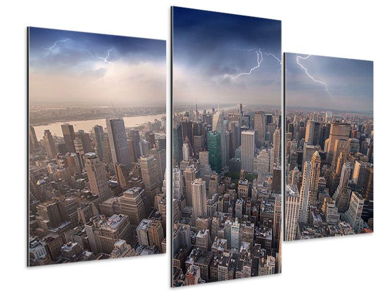 Aluminiumbild 3-teilig modern Manhattan