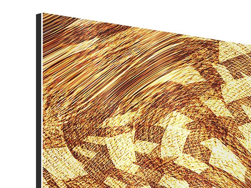 Aluminiumbild 3-teilig modern Retroperspektive