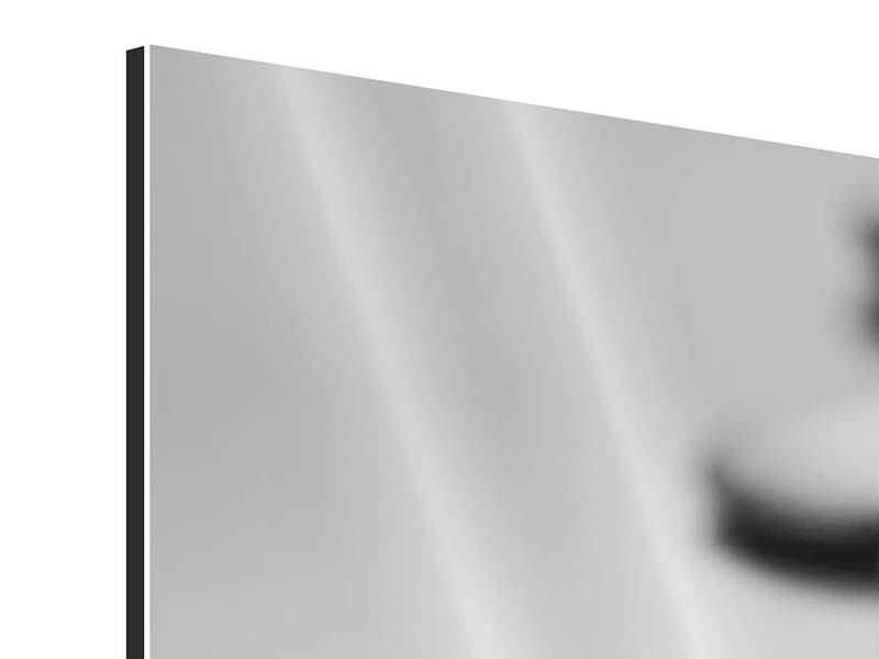 Aluminiumbild 3-teilig modern Feng-Shui-Orchidee