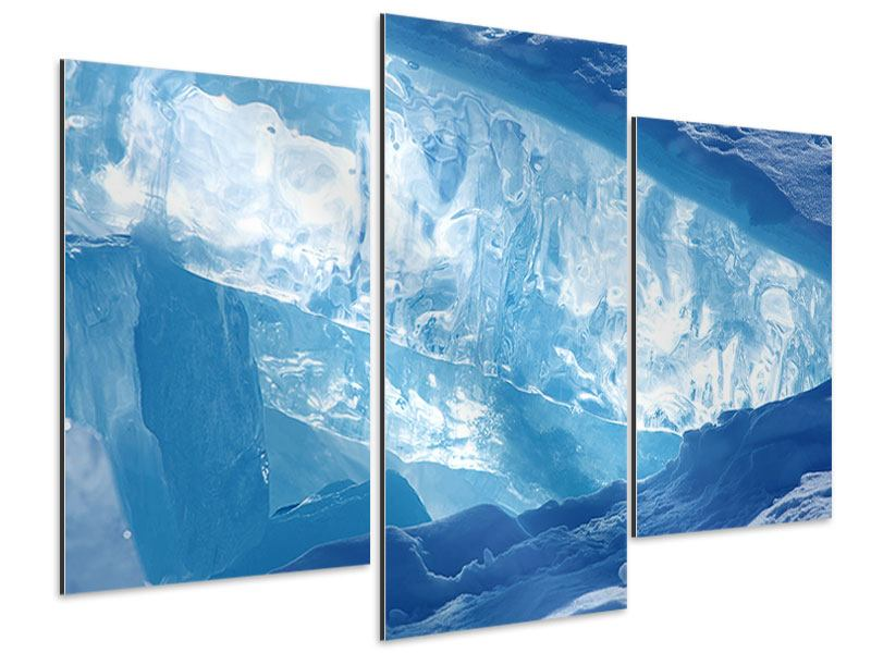 Aluminiumbild 3-teilig modern Baikalsee-Eis